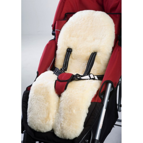 Deluxe Quilted sheepskin Infant Car Seat Liner (2)