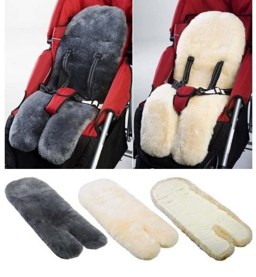 Deluxe Quilted sheepskin Infant Car Seat Liner